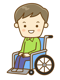 A wheelchair male