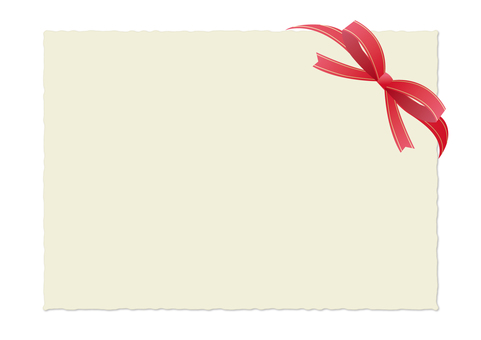 Ribbon card_ red