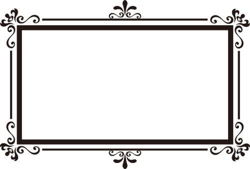 Decoration frame rectangle