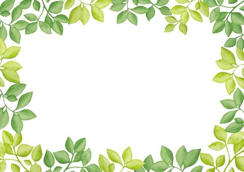 수채화 잎 4