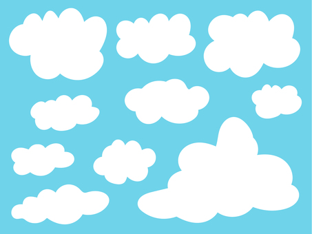 Various cloud illustrations