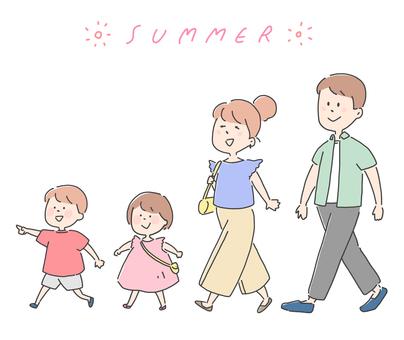 Family illustration set