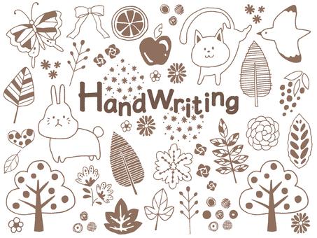 手書き動植物