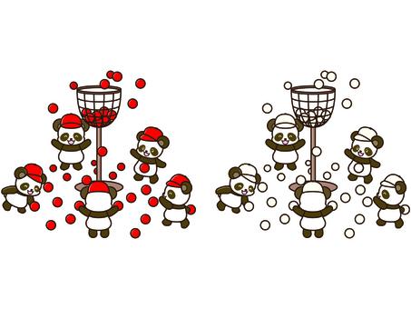 Panda illustration _ sports day _ 01