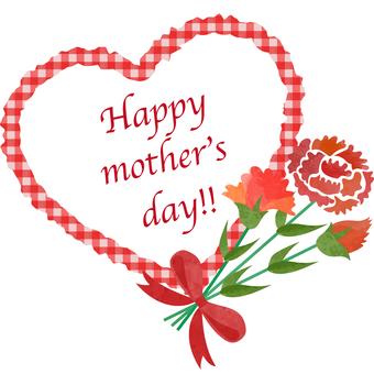 母親節_心臟_框架的例證