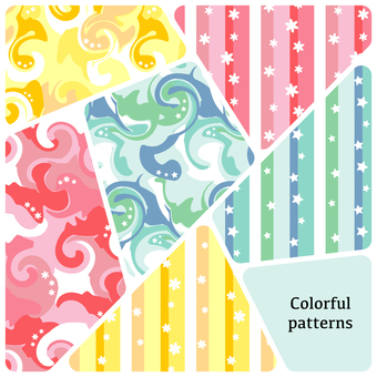 Colorful marble pattern set