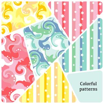 화려한 대리석 패턴 세트