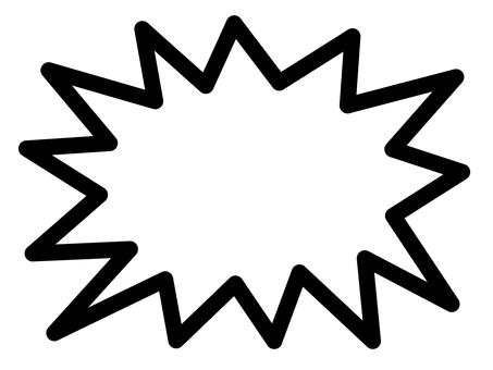 Explosion balloon (rounded corner)