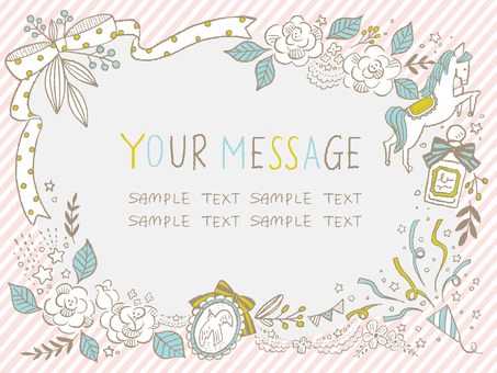 Girly message card