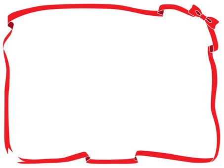 빨간 리본 프레임 3