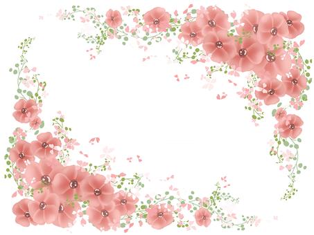 꽃 프레임 09