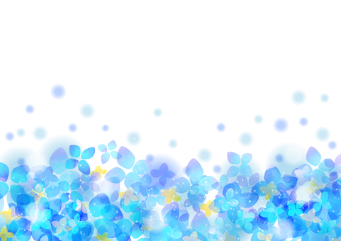 Seasonal event material 005 hydrangea background