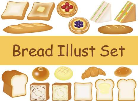 Bread set illustration