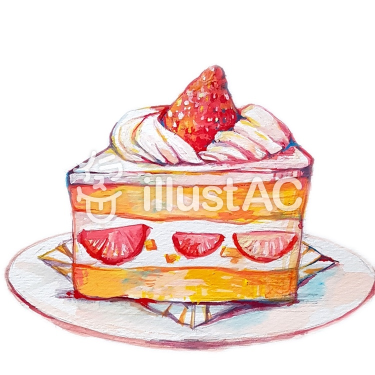 いちごのショートケーキイラスト No 1187170無料イラストなら