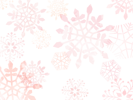 Snowflake background material 01 / pink