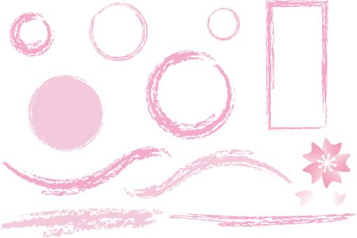 Sakura and pink frame set