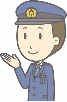 Police officer a - guidance left diagonal - bust