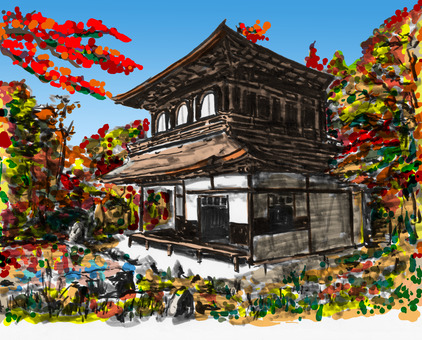 Ginkan Temple of autumn leaves