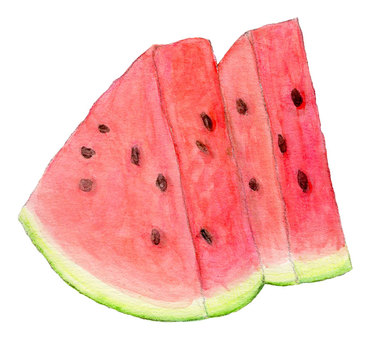 2 pieces of watermelon