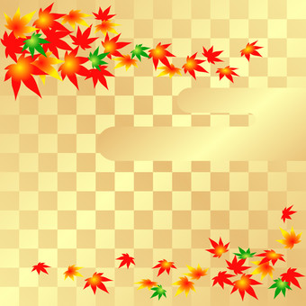 Gold and autumn leaves background 1