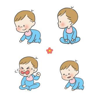 아기 표정 세트