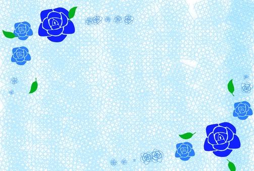 Blue rose frame