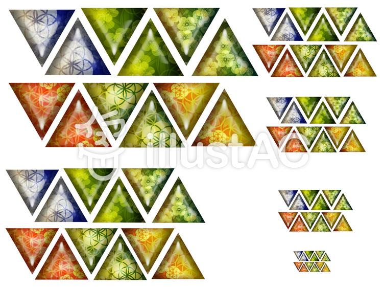 和風アイコンセット(三角)のイラスト