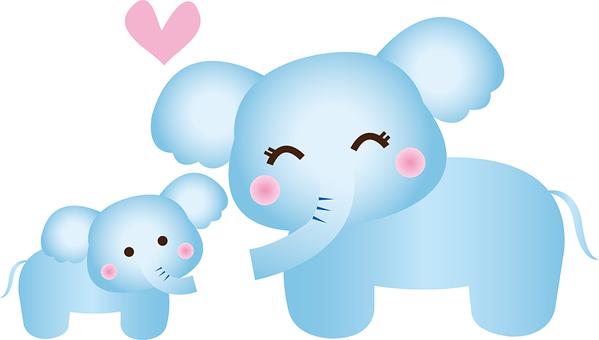 Nursery elephant illustration