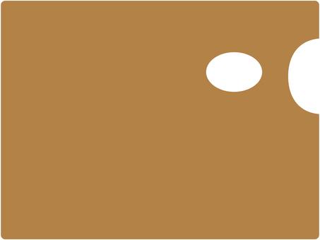 絵の具パレット四角