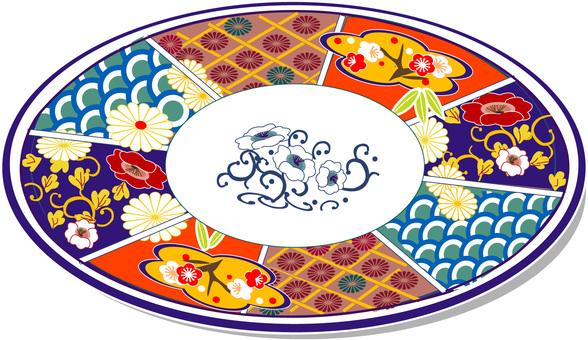 Japanese dish octagonal dish