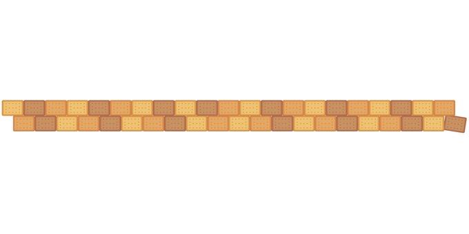 Three color biscuit border