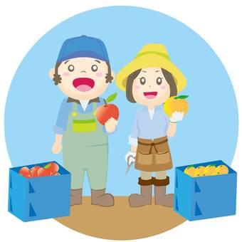 Fruit farming couple