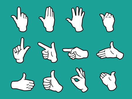Hand and fingers · Hand sign · White nuri