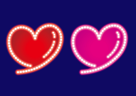 Heart · neon sign set F
