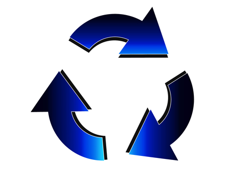 Blue Recycle Mark