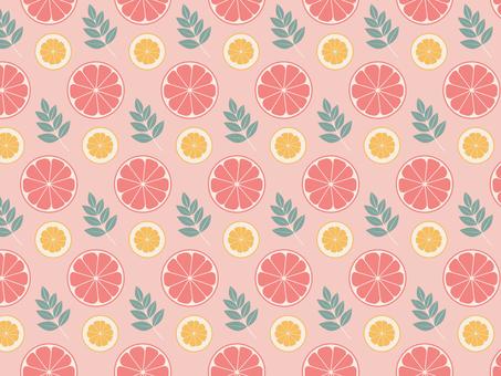 Pink fruit pattern
