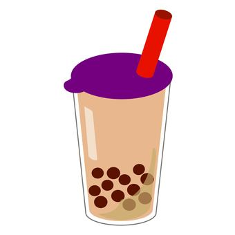 Tapioca milk tea 2 purple