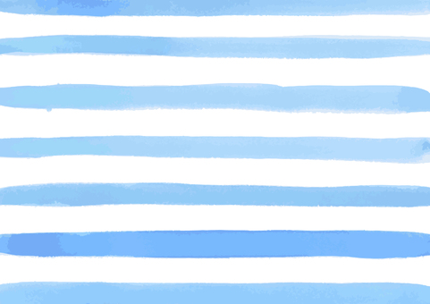 수채화 소재 블루 × 국경