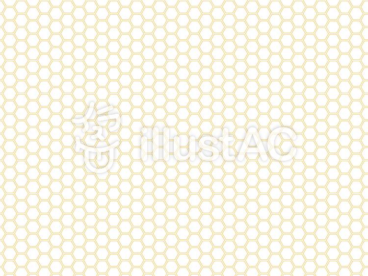 亀甲繋ぎ_黄金色のイラスト