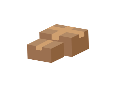 Illustration material of cardboard