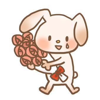 Rabbit bouquet color tears