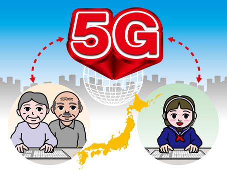 5G next-generation high-speed communication (19) Chat with grandchildren