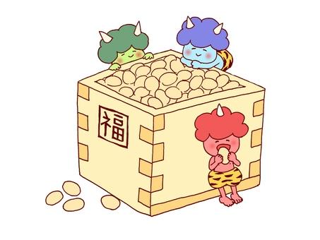 Setsuben bean with small devil