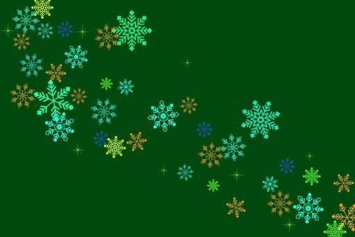 簡單的雪背景綠色