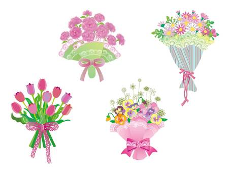 Flowers _ bouquet 01_ pink