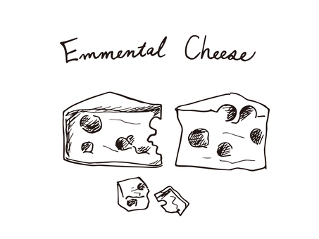 Emmental cheese (line drawing)