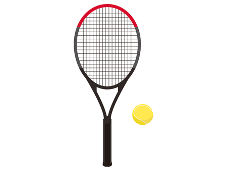Tennis racket ball