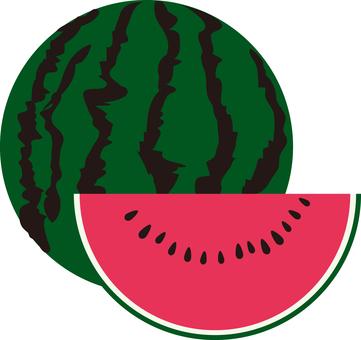 Food series Fruit watermelon 2
