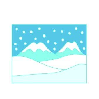 Snowy mountain icon 1