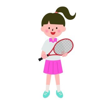 A girl with a racket